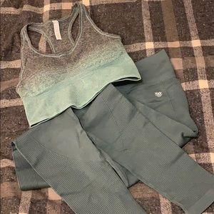 Teal Blue Workout Set